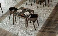 Spanyol csempék, spanyol járólapok, spanyol burkolatok kép:Rusztikus, fa hatású és cementlap jellegű padlólapok, csempék a Gayaforestől
