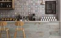 Spanyol csempék, spanyol járólapok, spanyol burkolatok kép:Grenier Mix 33,1×33,1 cm&Tribeca Almond 15×90 cm